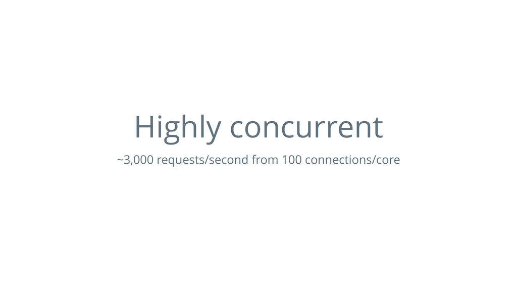 Highly concurrent ~3,000 requests/second from 1...
