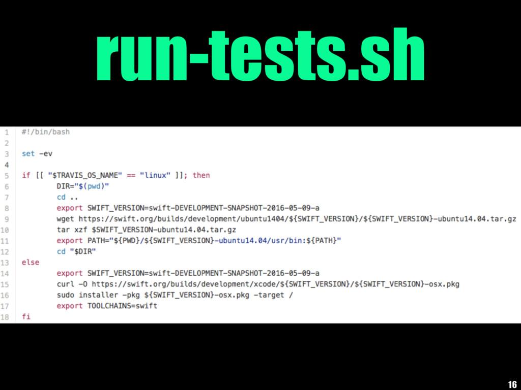 run-tests.sh 16