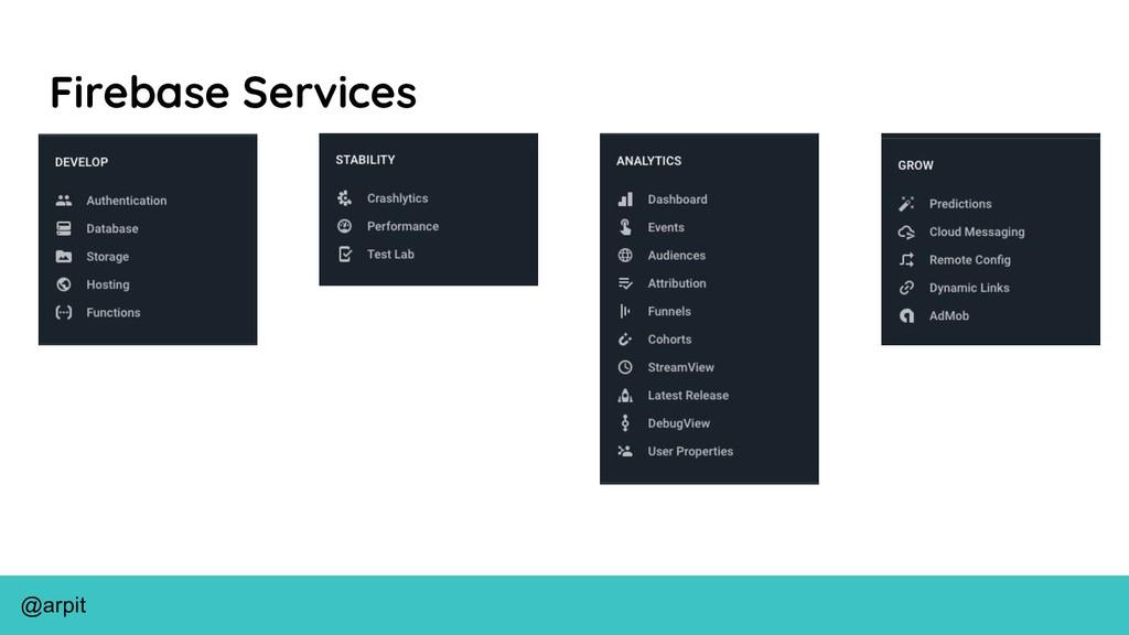@arpit Firebase Services