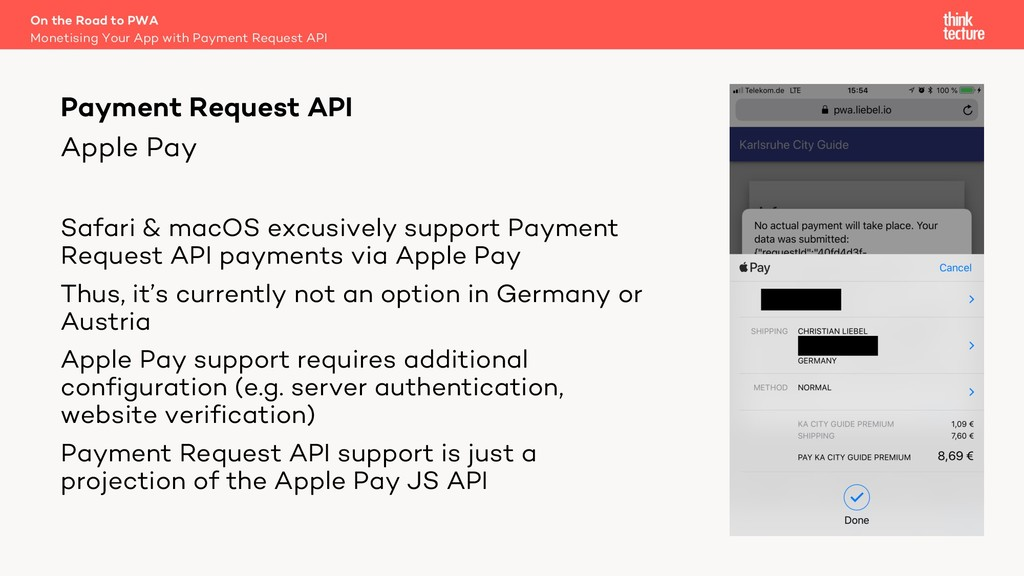 Apple Pay Safari & macOS excusively support Pay...