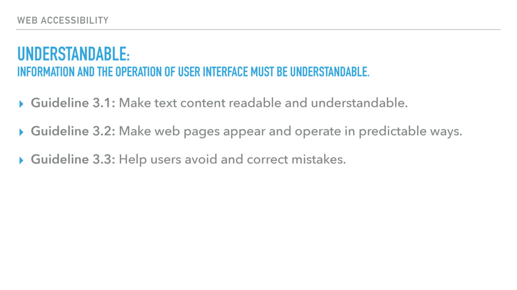 WEB ACCESSIBILITY UNDERSTANDABLE: INFORMATION A...