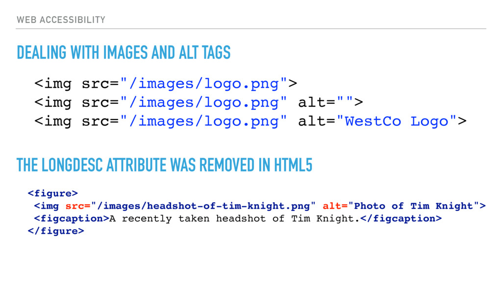 WEB ACCESSIBILITY DEALING WITH IMAGES AND ALT T...