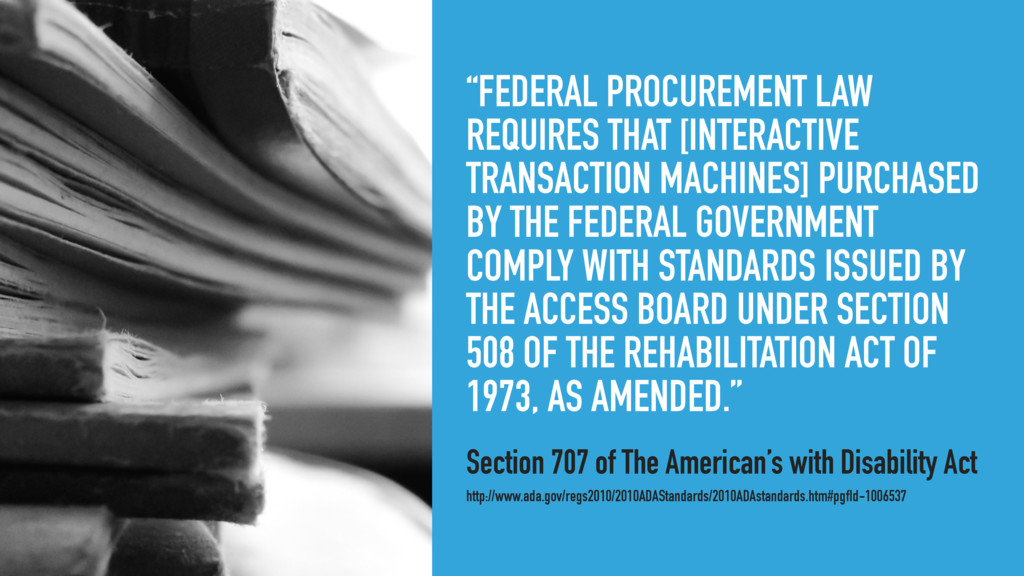 """""""FEDERAL PROCUREMENT LAW REQUIRES THAT [INTERAC..."""