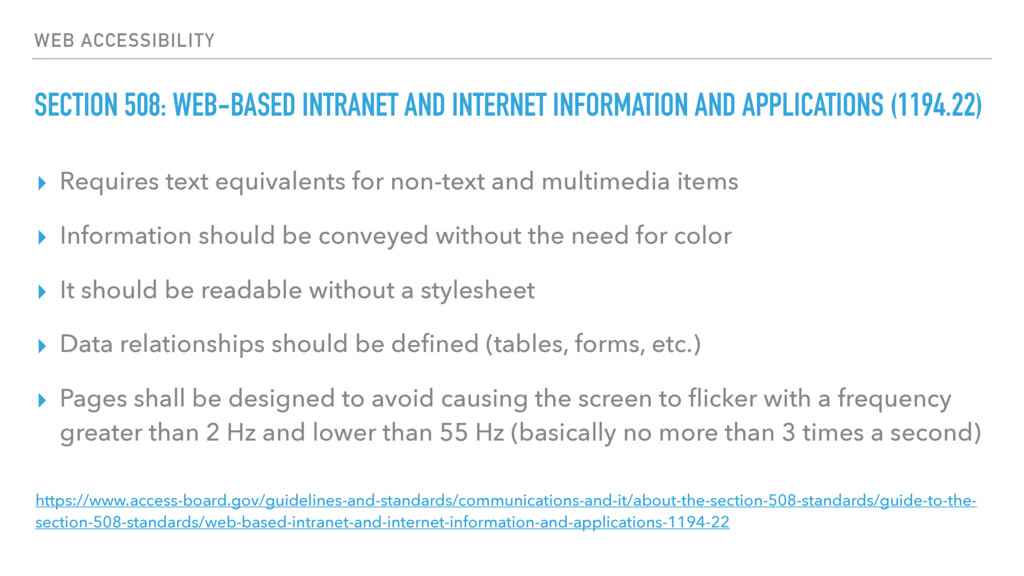 WEB ACCESSIBILITY SECTION 508: WEB-BASED INTRAN...