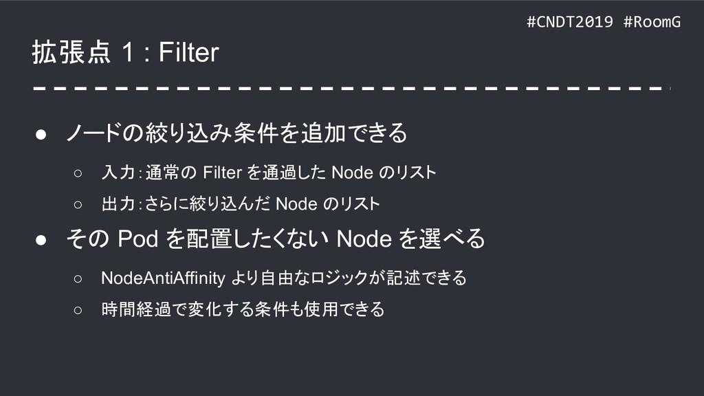 #CNDT2019 #RoomG 拡張点 1 : Filter ● ノードの絞り込み条件を追加...