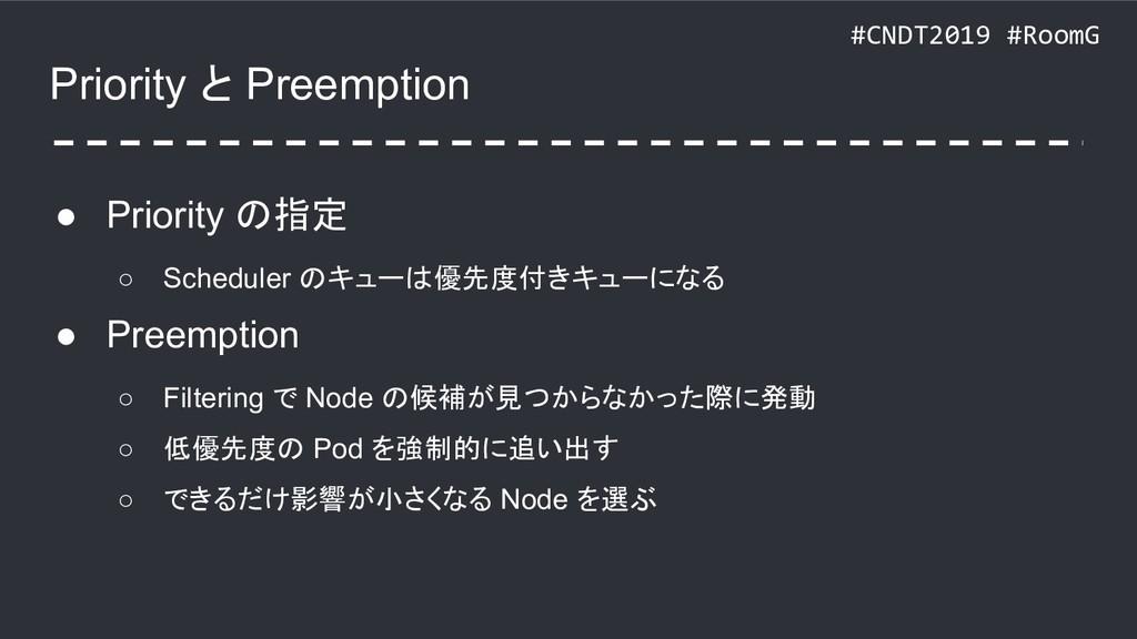 #CNDT2019 #RoomG Priority と Preemption ● Priori...