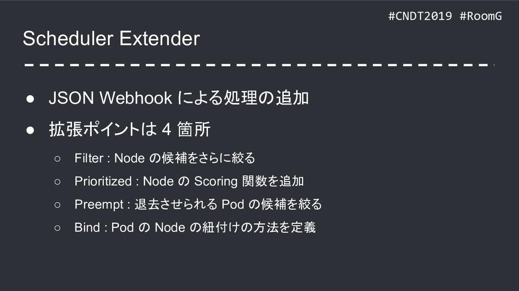 #CNDT2019 #RoomG Scheduler Extender ● JSON Webh...