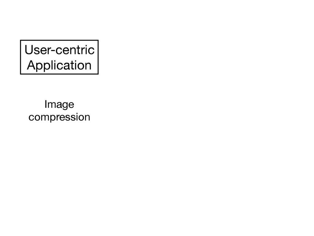 User-centric  Application Image  compression