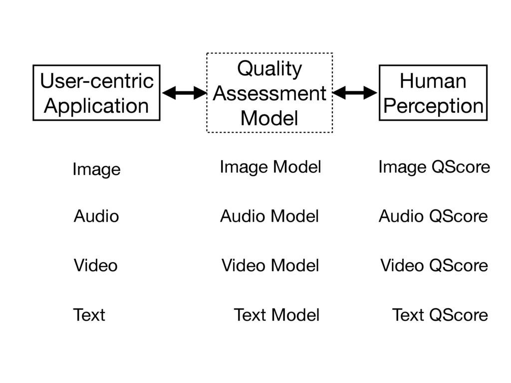 Human  Perception User-centric  Application Qua...
