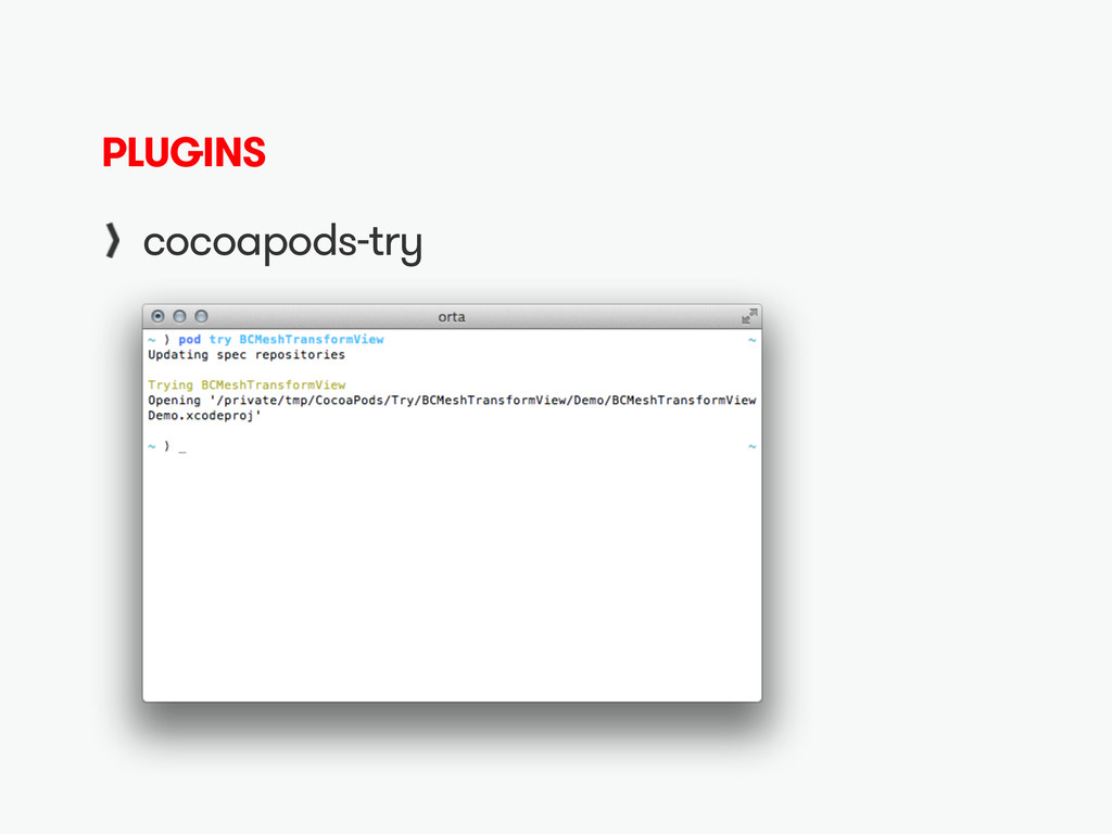 PLUGINS cocoapods-try