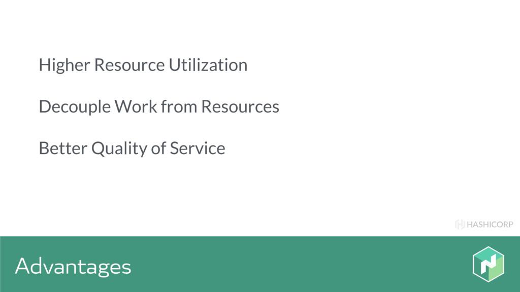 HASHICORP Advantages Higher Resource Utilizatio...