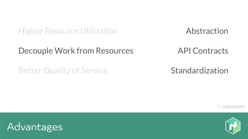 HASHICORP Advantages Abstraction API Contracts ...