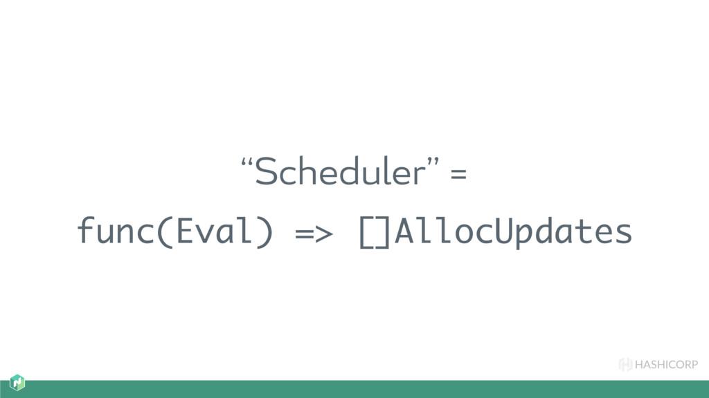 "HASHICORP ""Scheduler"" = func(Eval) => []AllocUp..."