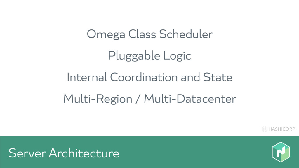 HASHICORP Server Architecture Omega Class Sched...