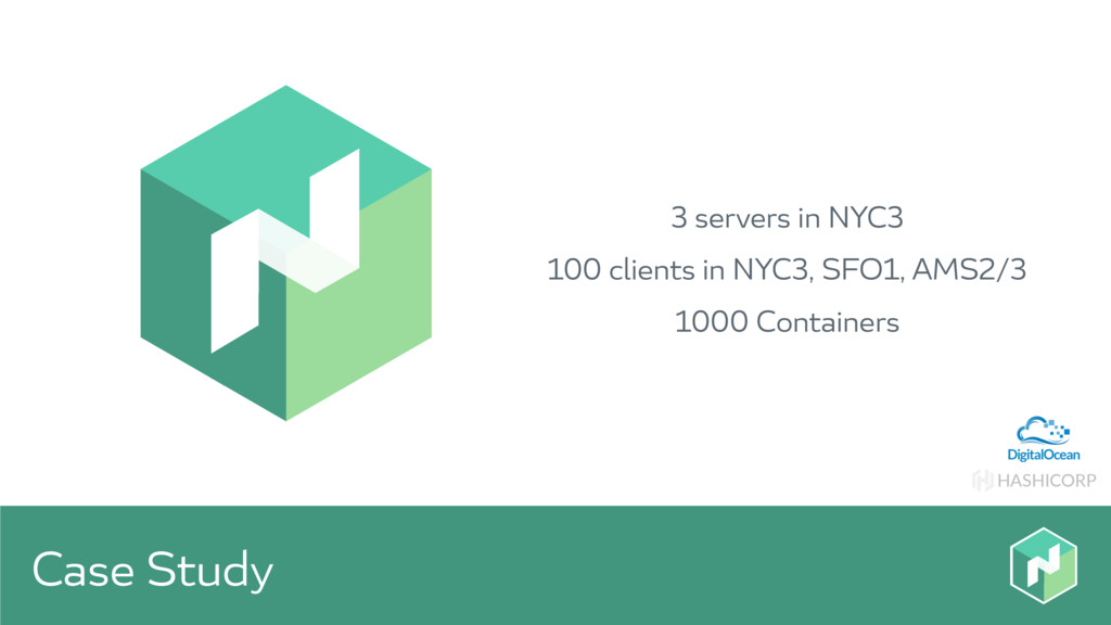 HASHICORP Case Study 3 servers in NYC3 100 clie...