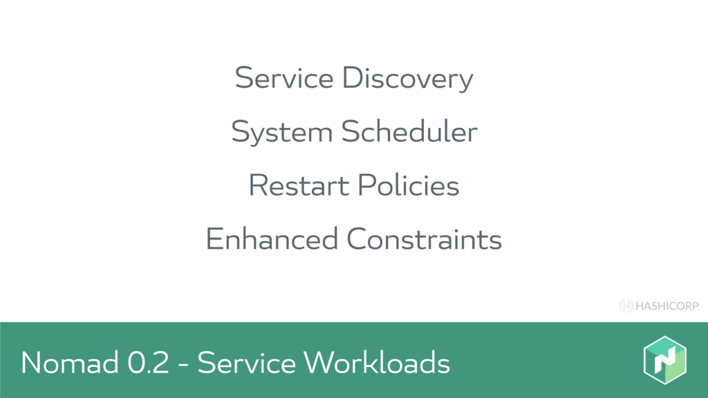 HASHICORP Nomad 0.2 - Service Workloads Service...