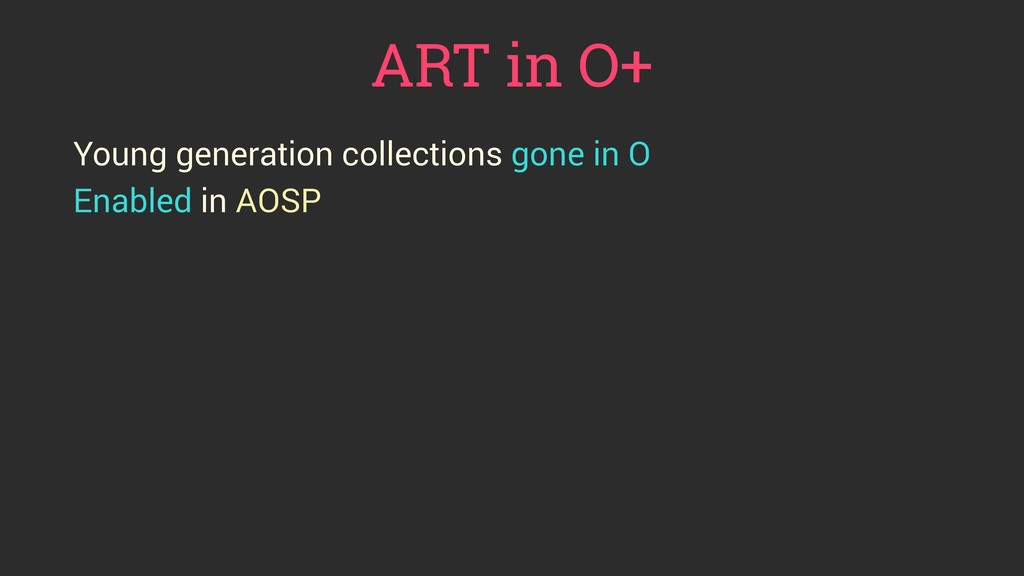 ART in O+ Young generation collections gone in ...
