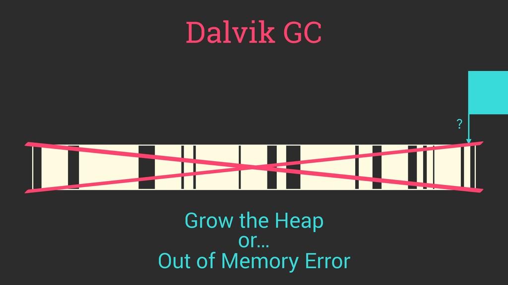 Dalvik GC ? Out of Memory Error Grow the Heap o...