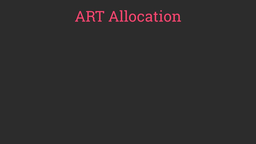 ART Allocation