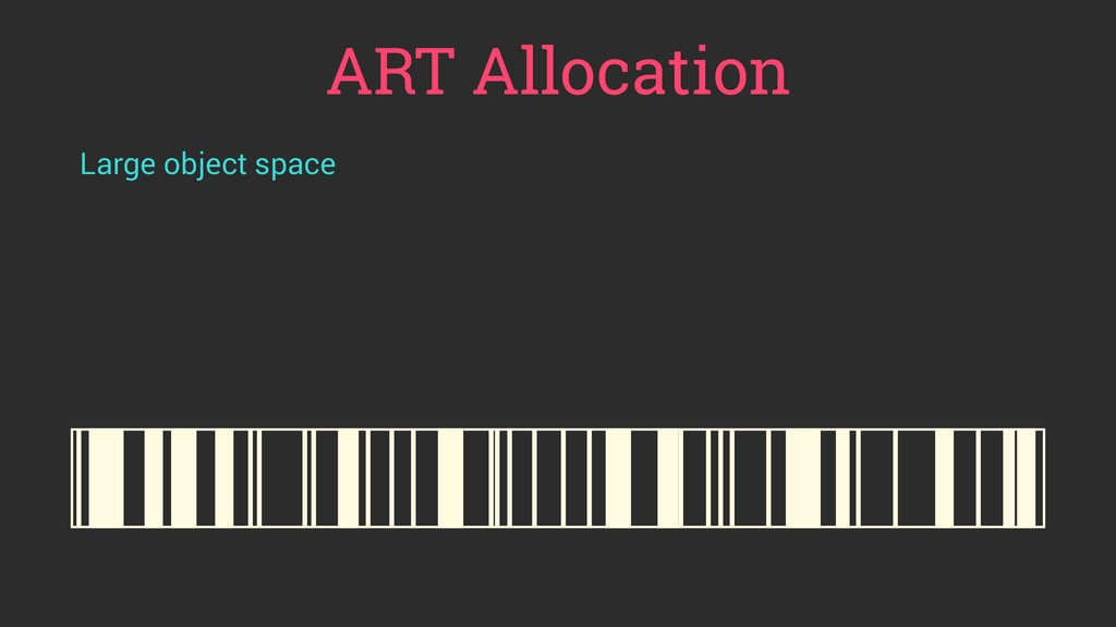 ART Allocation Large object space
