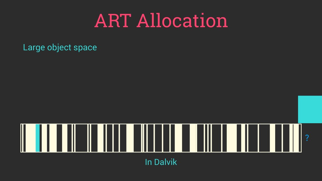 ART Allocation Large object space ? In Dalvik