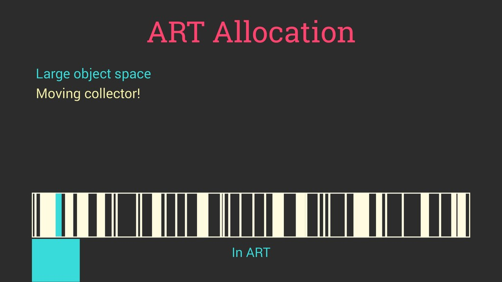 ART Allocation Large object space Moving collec...