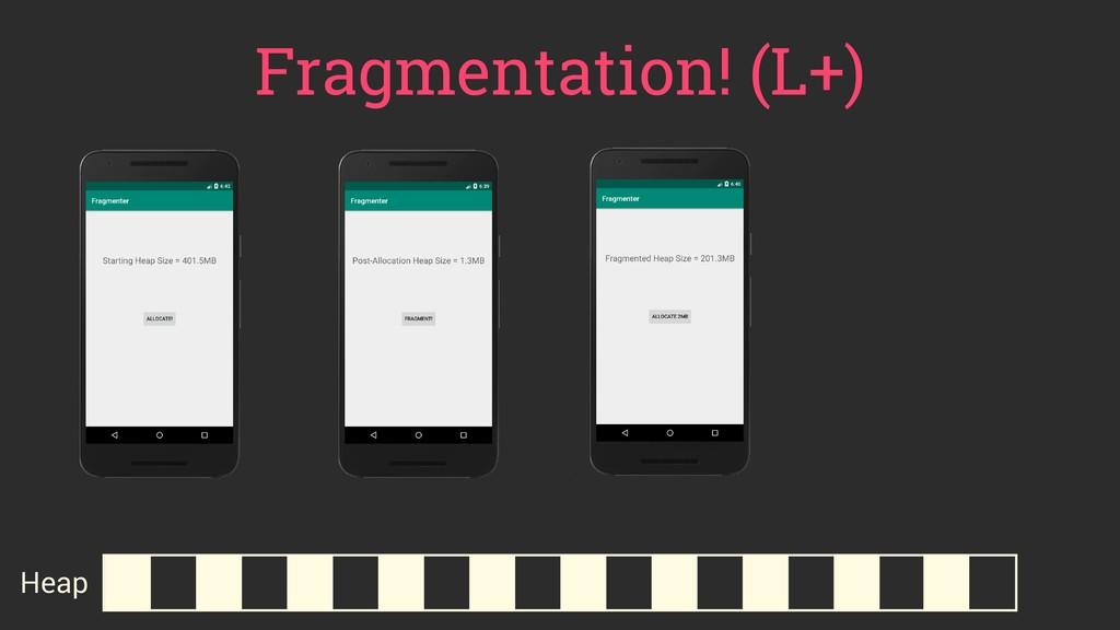 Fragmentation! (L+) Heap