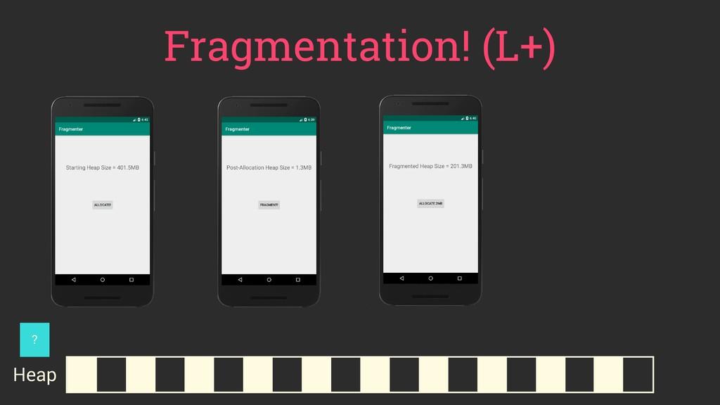 Fragmentation! (L+) Heap ?