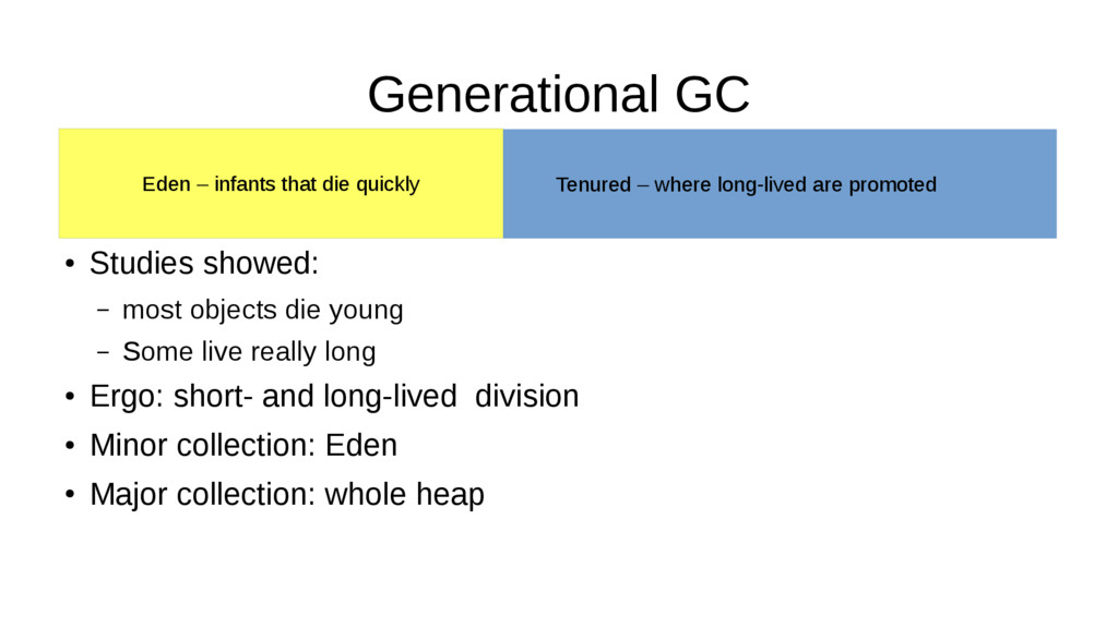 Generational GC Tenured – where long-lived are ...