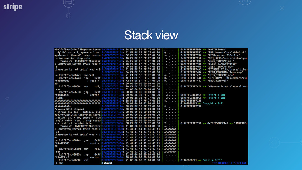 Stack view