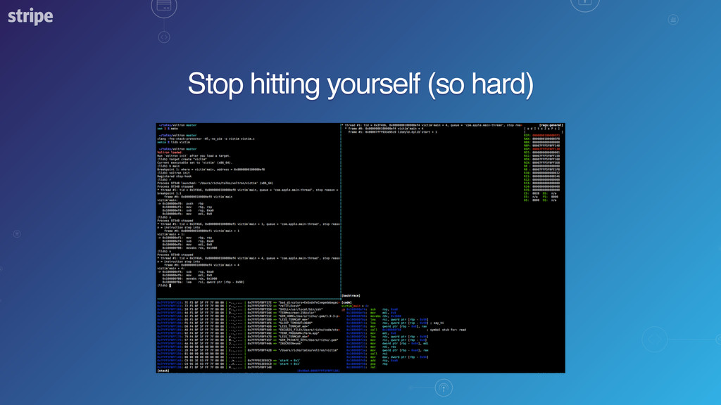 Stop hitting yourself (so hard)