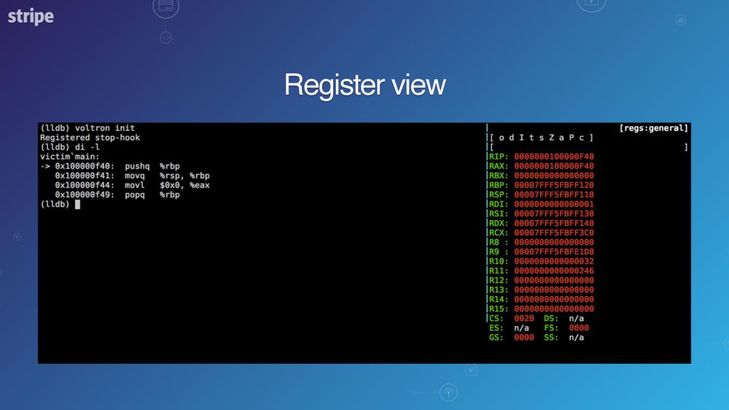 Register view