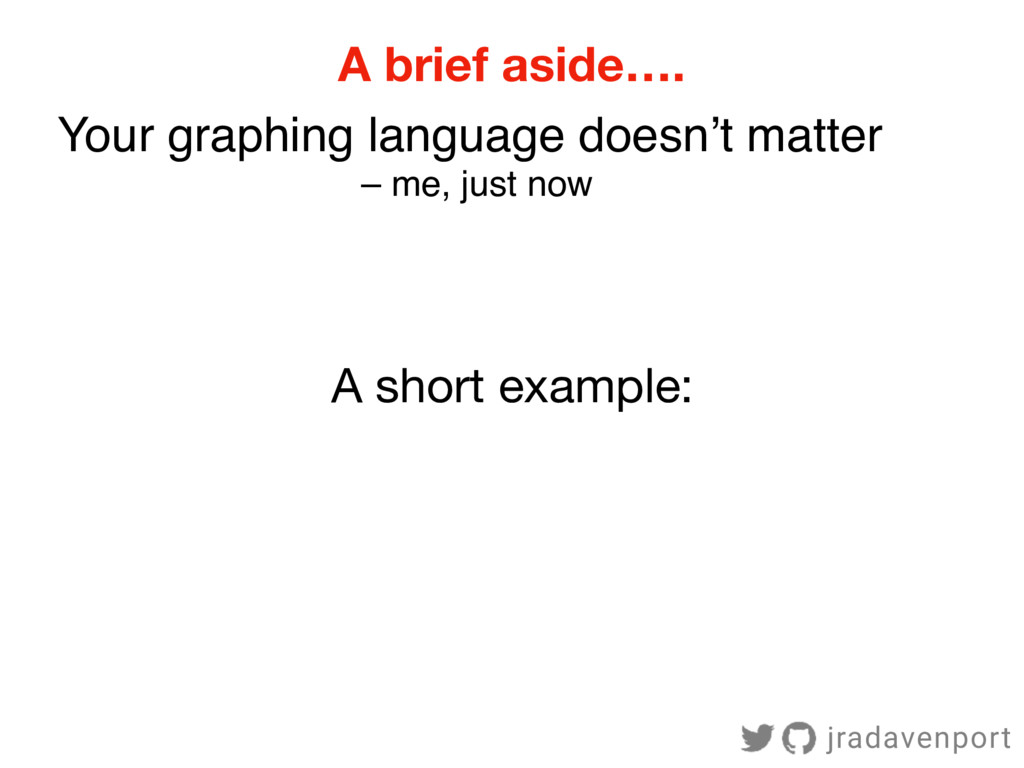 A brief aside…. Your graphing language doesn't ...