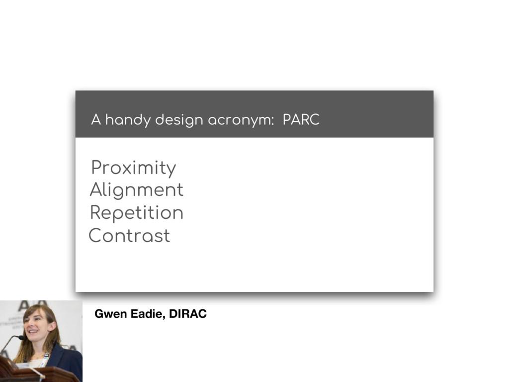 A handy design acronym: PARC Proximity Alignmen...