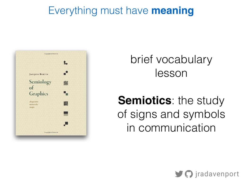 brief vocabulary lesson Semiotics: the study of...