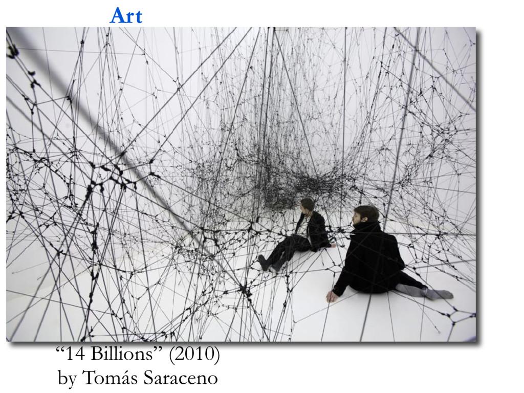 "Art ""14 Billions"" (2010) by Tomás Saraceno"