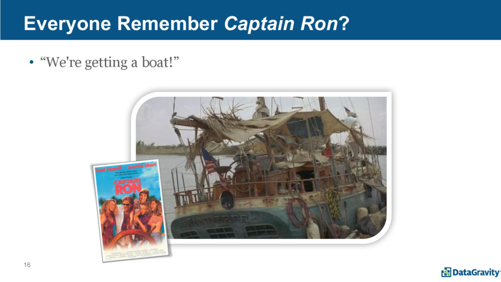 "16 Everyone Remember Captain Ron? • ""We're gett..."
