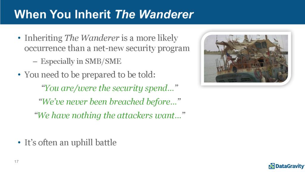 17 When You Inherit The Wanderer • Inheriting T...