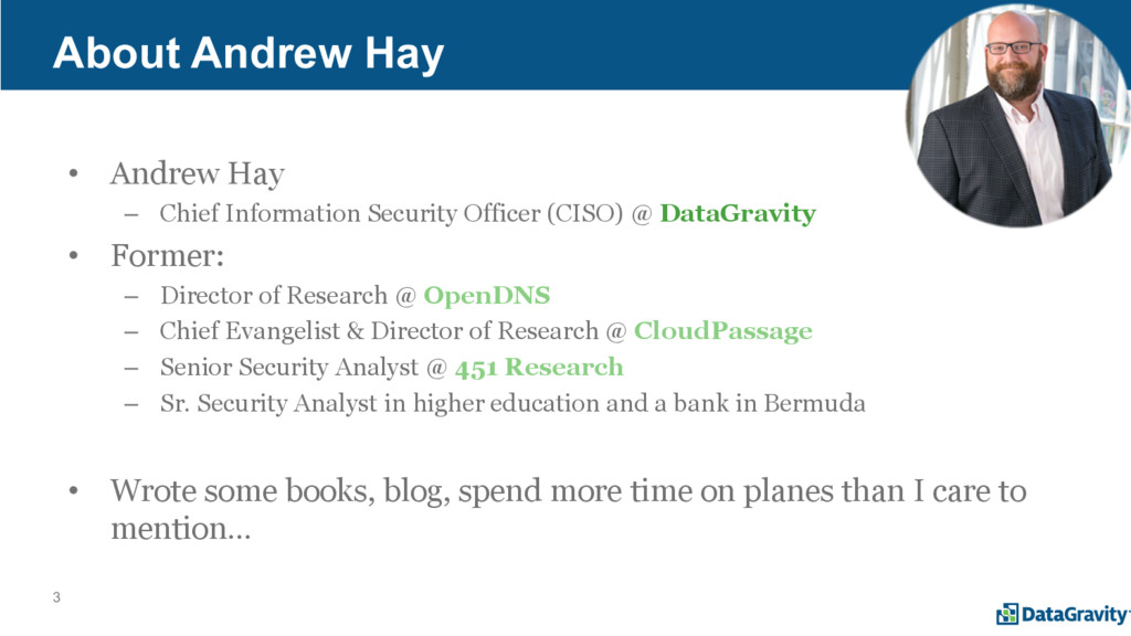 3 • Andrew Hay – Chief Information Security Off...