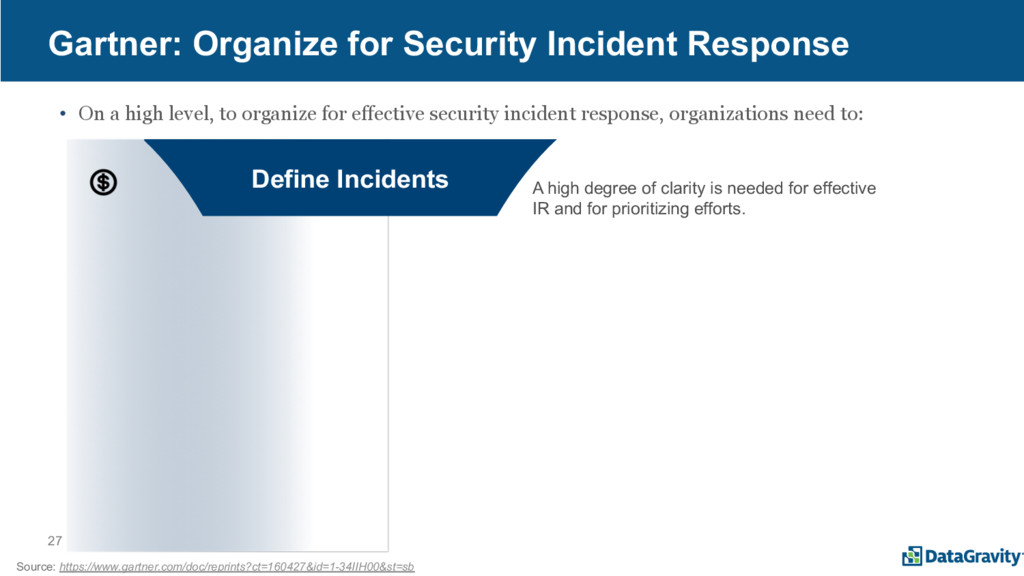 27 Gartner: Organize for Security Incident Resp...