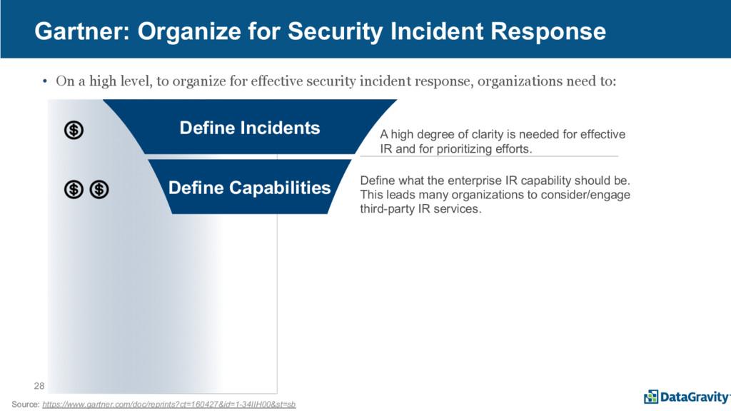 28 Gartner: Organize for Security Incident Resp...