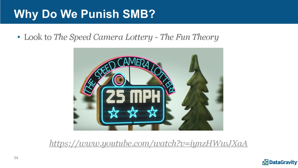 34 Why Do We Punish SMB? • Look to The Speed Ca...