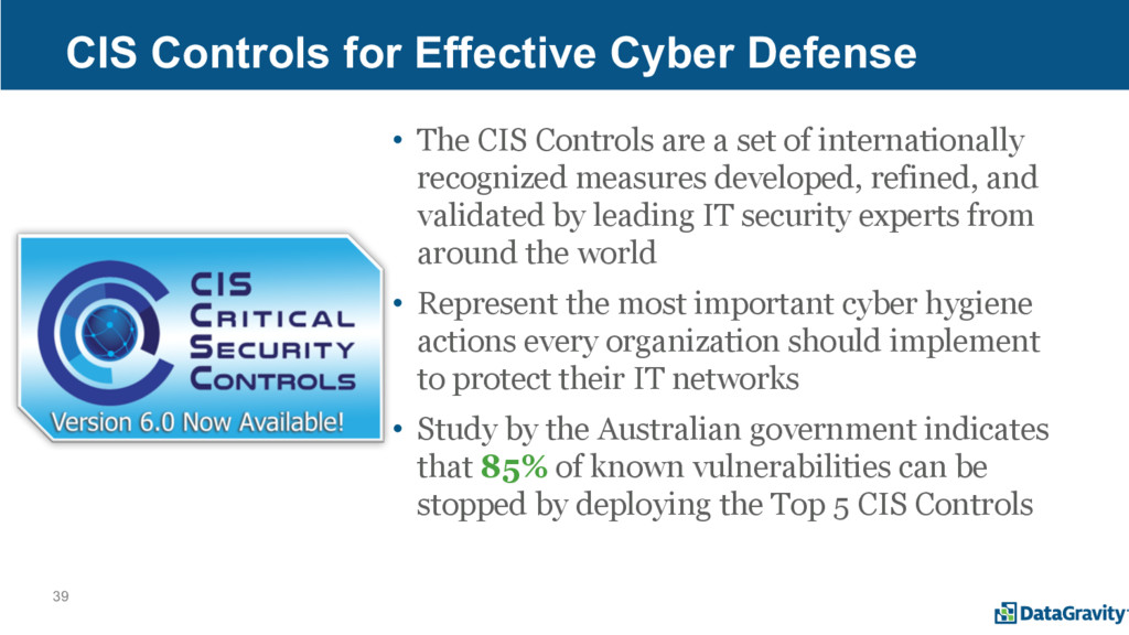 39 CIS Controls for Effective Cyber Defense • T...