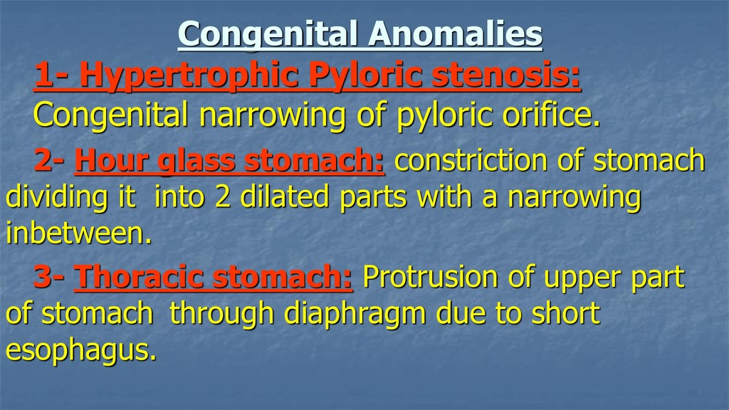 Congenital Anomalies 1- Hypertrophic Pyloric st...