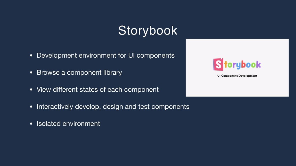 Storybook • Development environment for UI comp...