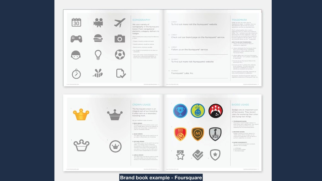 Brand book example - Foursquare