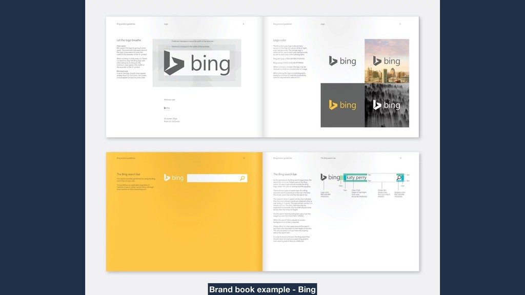 Brand book example - Bing