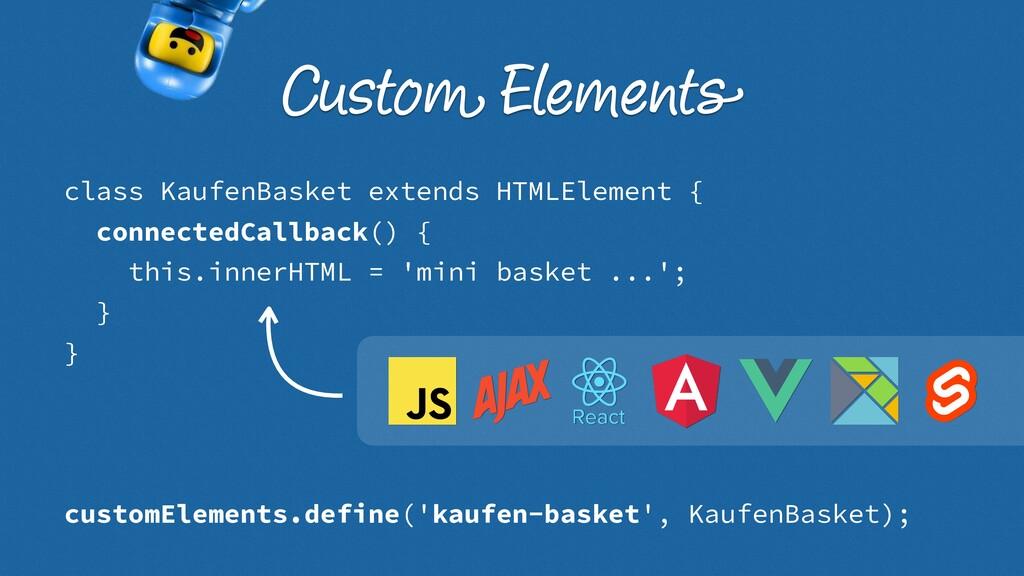 class KaufenBasket extends HTMLElement { connec...
