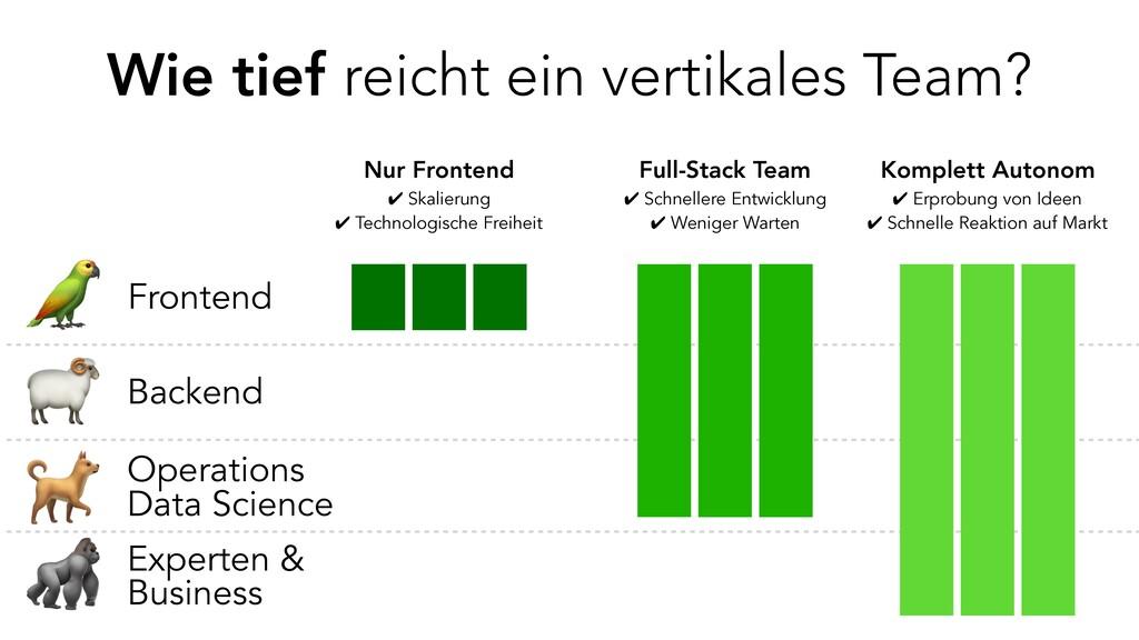 Wie tief reicht ein vertikales Team? Fronte...