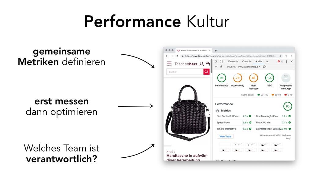 Performance Kultur erst messen dann optimieren ...